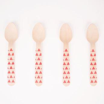 Imagen de Cucharas madera decoradas rojas (8)