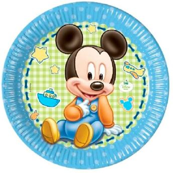 Picture of Platos Mickey Mouse bebé grandes (8)