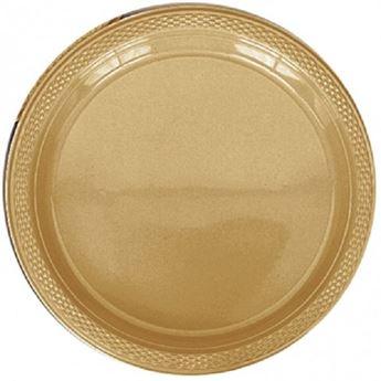 Imagen de Platos dorados plástico grandes (10)
