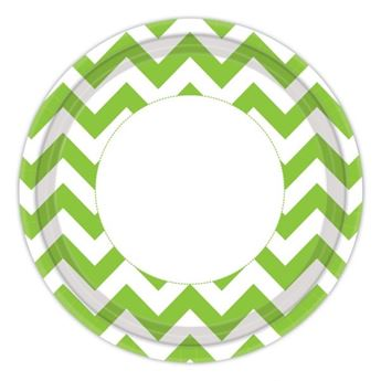 Picture of Platos chevron verde claro (8) * ultimas und