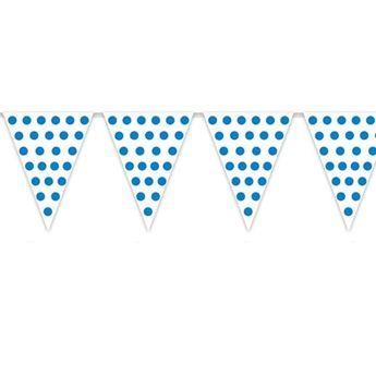 Imagen de Banderín blanco puntos azules (5m)