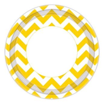 Picture of Platos chevron amarillo (8)