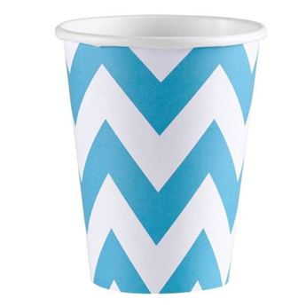 Imagen de Vasos chevron azul caribeño (8)