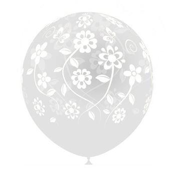 Imagen de Globos transparentes flores (8)