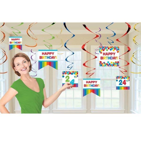 Imagen de Decorados espirales cumpleaños personalizable (12)