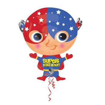 Imagen de Globo cumpleaños superhéroe