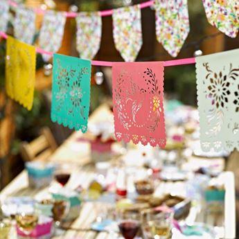 Imagen de Banderín mexicano troquelado pastel 4mts