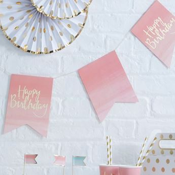 Imagen de Banderín Happy Birthday boho