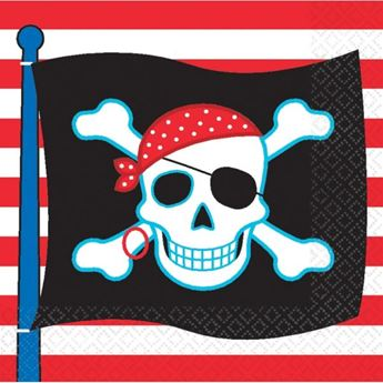 Imagen de Servilletas Fiesta Piratas (16)