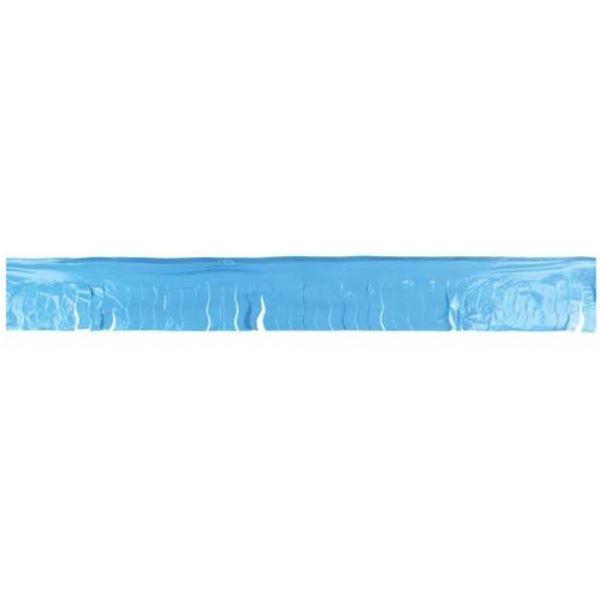 Picture of Guirnalda azul claro flecos plástico 25m