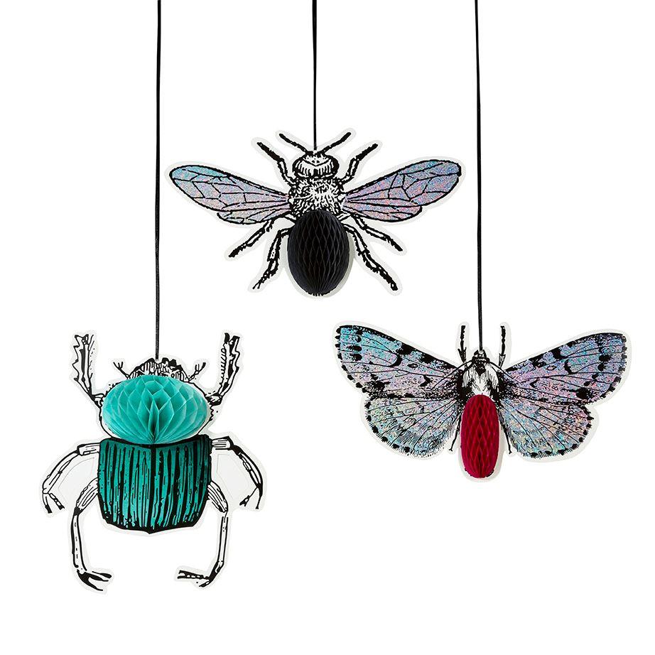 Compra Decorados insectos vintage nido de abeja (3) y recíbelo en ...