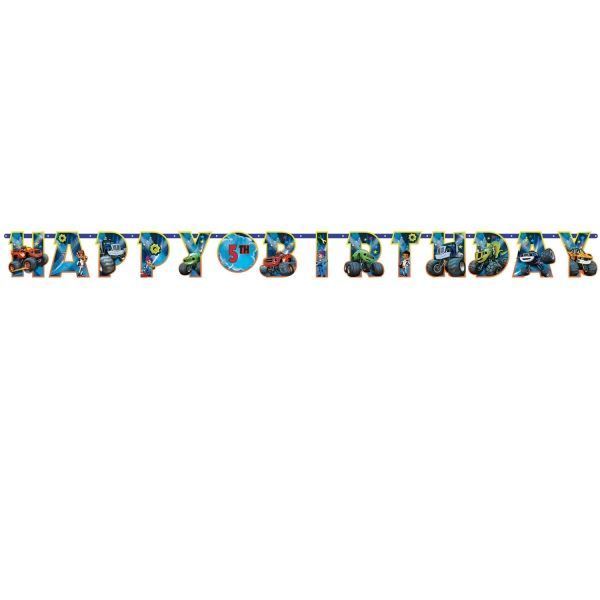 Imagen de Banner Happy Birthday Blaze y los Monster Machines