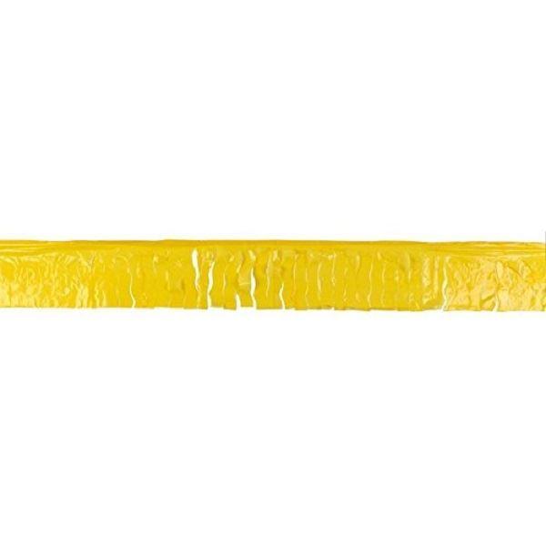 Imagen de Guirnalda amarilla flecos plástico 25m
