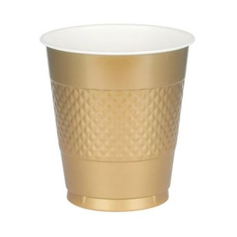 Imagen de Vasos dorados plástico (10)