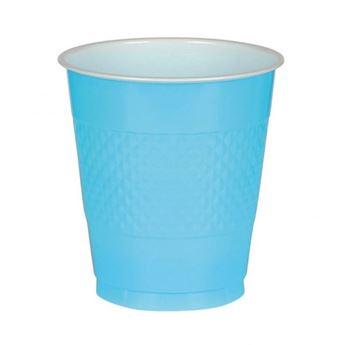 Imagen de Vasos azul caribeño plástico (10)