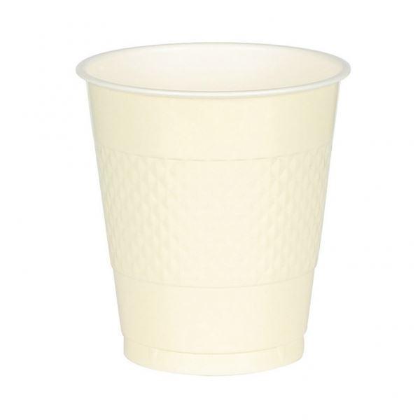 Picture of Vasos marfil plástico (10)