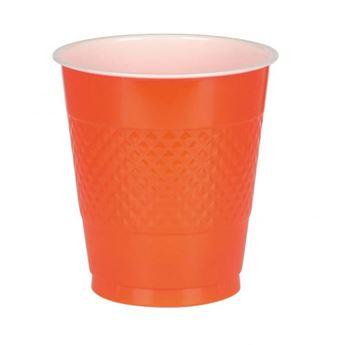 Imagen de Vasos naranja plástico (10)