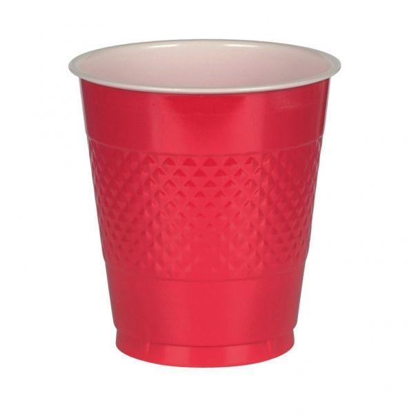 Imagen de Vasos rojos plástico (10)