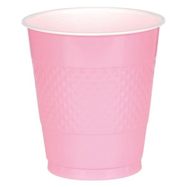 Imagen de Vasos rosa pastel plástico (10)