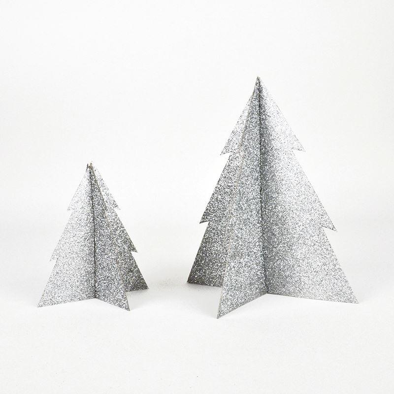 Comprar decorado rbol navidad plata purpurina 13cm online - Comprar arboles de navidad decorados ...