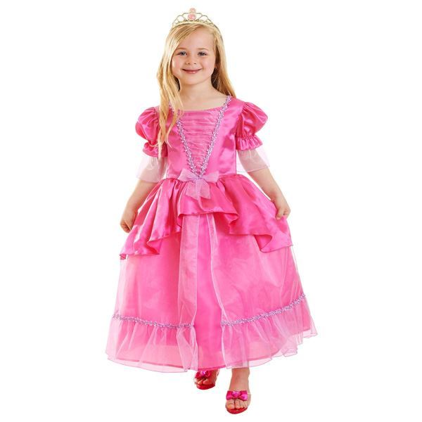 Imagen de Disfraz Princesa rosa con tiara (8-10 años)
