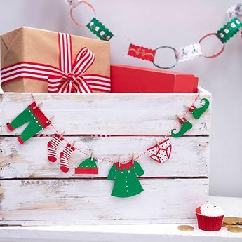 Imagen de Banderín elfo de Navidad mini