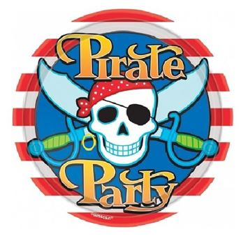 Picture of Platos Fiesta Piratas grandes (8)