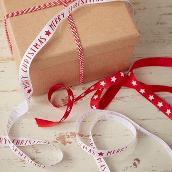 Imagens de Cinta tela regalos Navidad clásica (3)