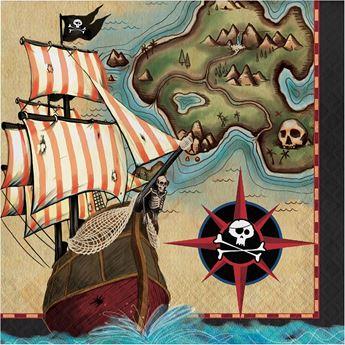 Picture of Servilletas Mapa Pirata (16)