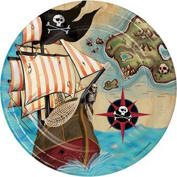 Picture of Platos Mapa Pirata pequeños (8)