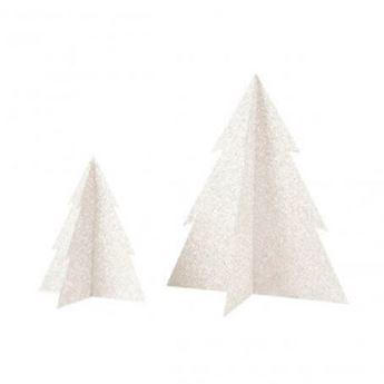 Imagen de Decorado árbol Navidad purpurina 20cm