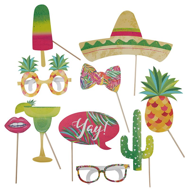 comprar accesorios photocall palito tropical 10 online env o en 24h fiestafacil tienda. Black Bedroom Furniture Sets. Home Design Ideas