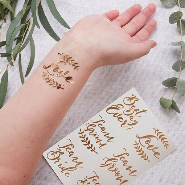 Imagen de Tatuaje temporal boda oro (12)