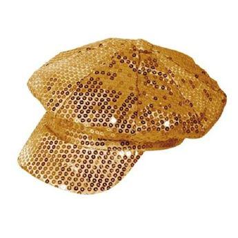 Imagen de Gorra lentejuelas oro Disco