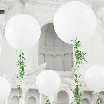 Imagen de Globo látex blanco 90cm