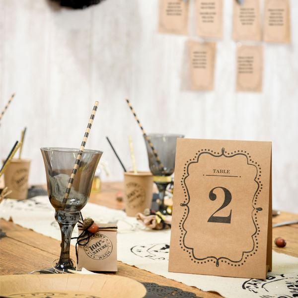 Picture of Números para mesa kraft (10)