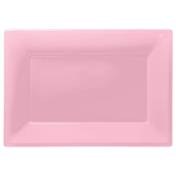 Imagen de Bandejas rosa pastel plástico (3)