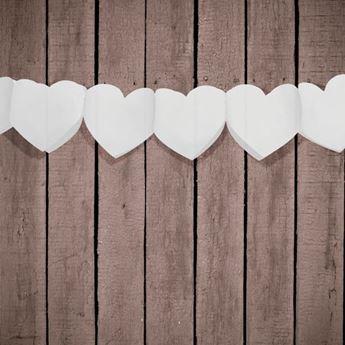 Imagen de Guirnalda corazones blancos 3mts
