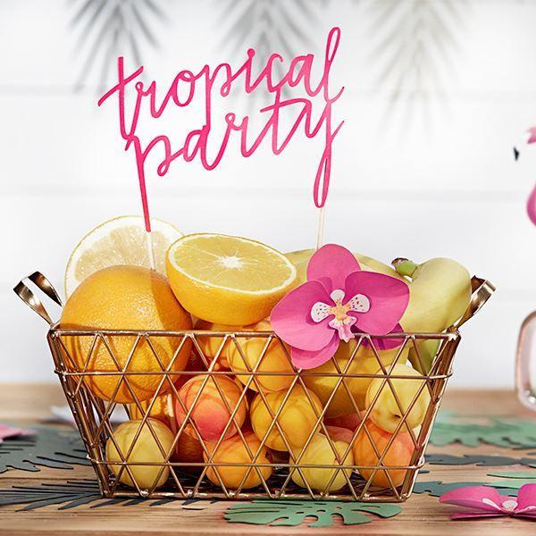 Imagen de Topper tarta fiesta tropical