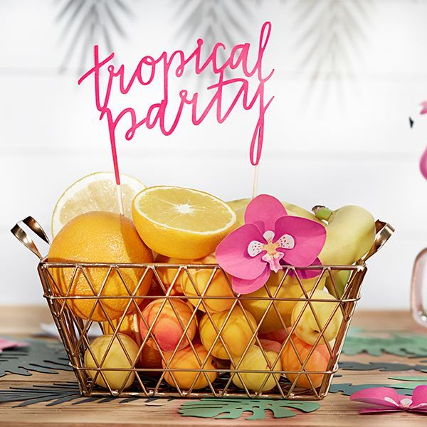 Imagens de Topper tarta fiesta tropical