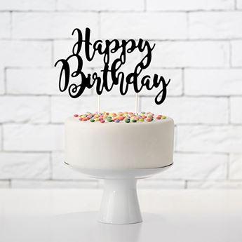 Imagen de Topper tarta feliz cumpleaños