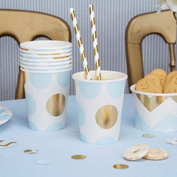 Imagen de Vasos lunares azules y dorado (8)