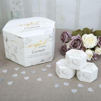 Picture of Confeti corazón mármol cajita