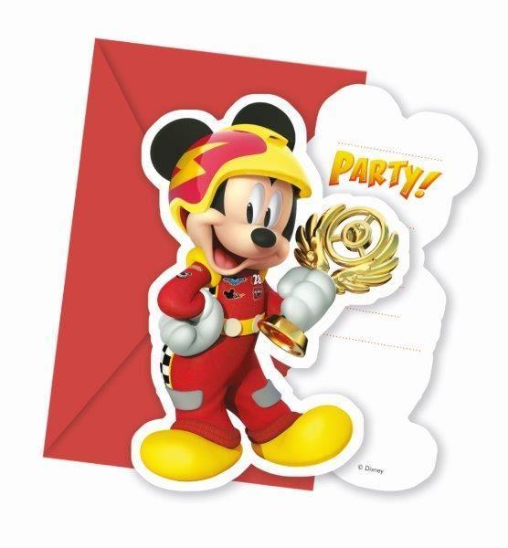 Invitaciones Mickey Y Los Super Pilotos 6