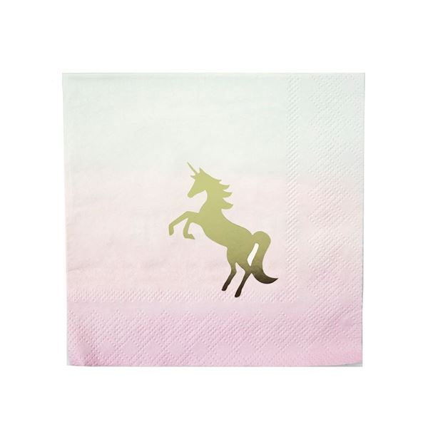 Imagen de Servilletas unicornio elegante (16)