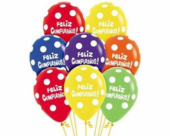 Imagen de Globos Feliz Cumpleaños lunares (12)