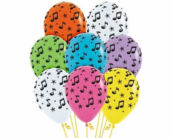 Picture of Globos notas musicales (10)