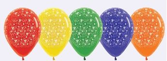 Picture of Globos colores surtidos Mariposas & Flores (10)