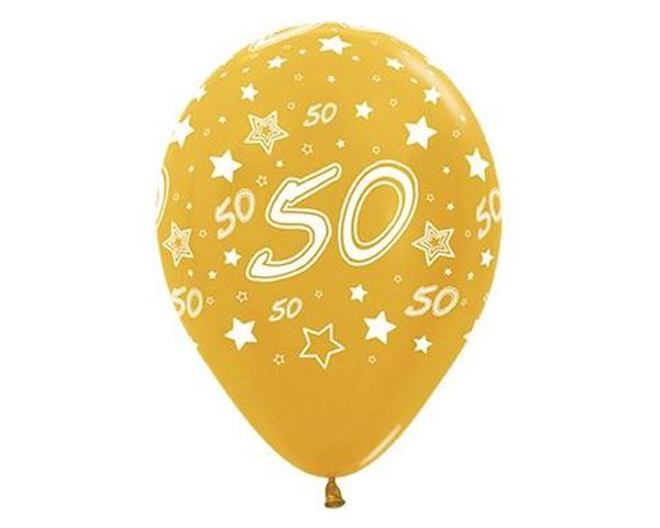 Compra globos 50 aniversario 12 y rec belo en 24h for Decoracion con globos 50 anos