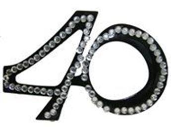 Imagen de Gafas 40 años diamantes